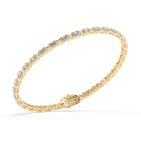 Glaze Lab Diamond Bracelet; 14kt yellow gold