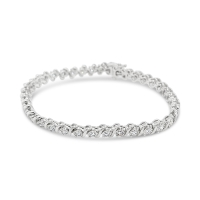 Infinity Lab Diamond Bracelet; 14kt white gold
