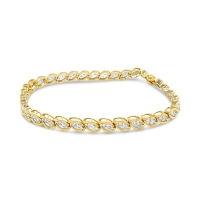 Linked Lab Diamond Bracelet; 14kt yellow gold