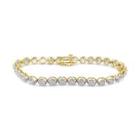 Ringlets Lab Diamond Bracelet; 14kt yellow gold