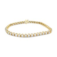 Sparklers Lab Diamond Bracelet; 14kt yellow gold