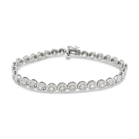 Stellara Lab Diamond Bracelet; 14kt white gold