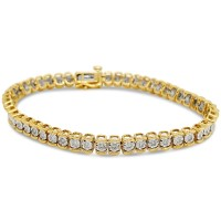 Trail Lab Diamond Bracelet; 14kt yellow gold