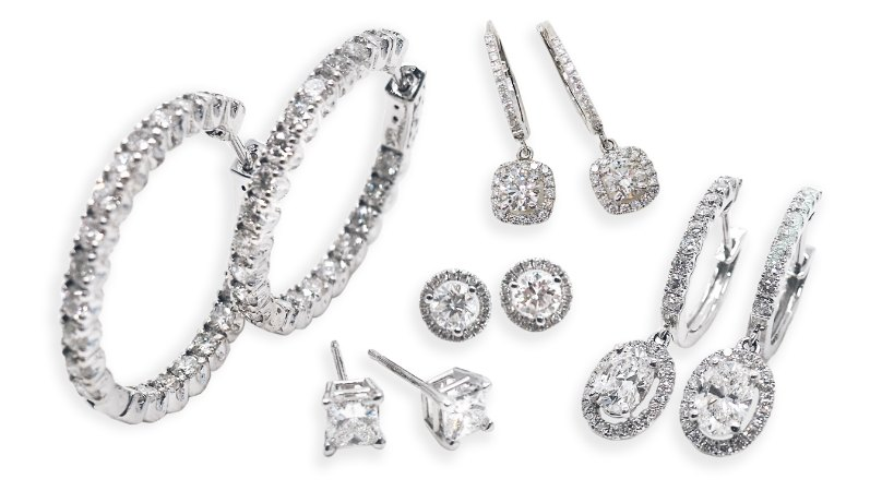 Assortment of diamond jewelry