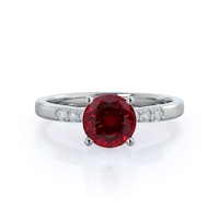 Enchant Ruby Ring, 14 kt white gold