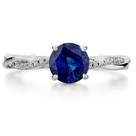 sapphire gemstone ring with diamonds