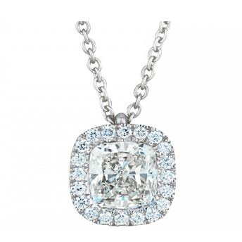how to buy jewelry online cushion halo diamond necklace