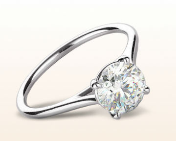 simple white gold engagement rings Poise Basket Diamond