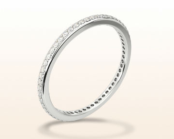 simple white gold rings Pave Diamond Eternity Wedding Band