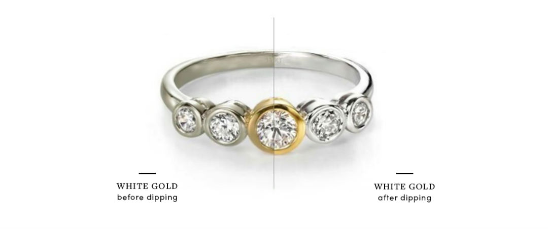 ring dipping before and after comparison