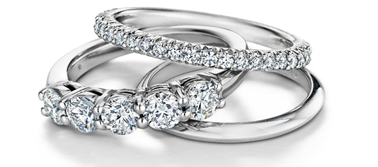 14kt white gold diamond and metal bands for men and women