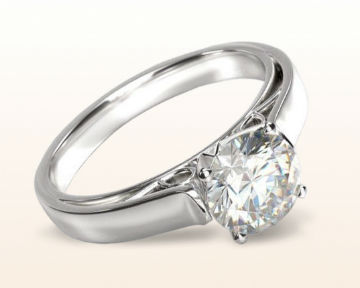 White Gold vs Platinum Grace Solitaire Diamond Ring