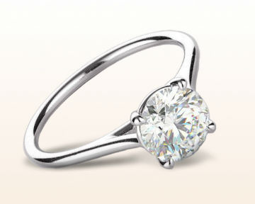 White Gold vs Platinum Poised Basket Diamond Engagement Ring
