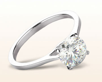 White Gold vs Platinum Sleek Cathedral Solitaire Engagement Ring