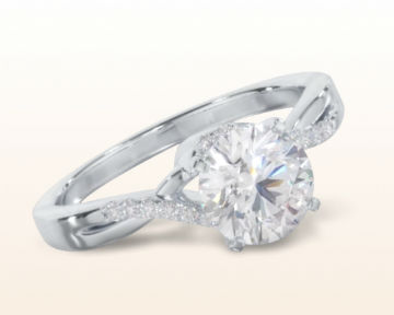 platinum engagement rings Classic Bypass Diamond