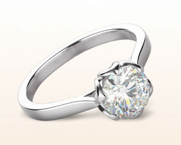 platinum engagement rings Lily Diamond
