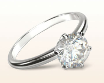 platinum engagement rings Luminous Six Prong Solitaire Diamond