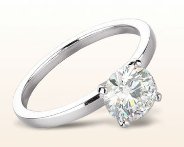 platinum engagement rings Petite Solitaire Diamond