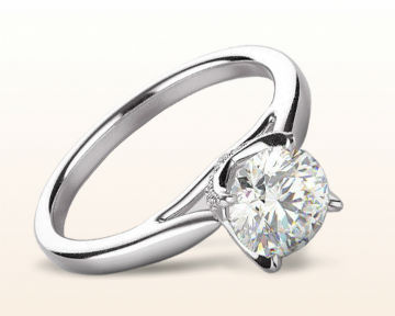 platinum engagement rings Regal Diamond Trellis