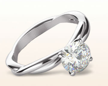 platinum engagement rings Twirling Solitaire Diamond