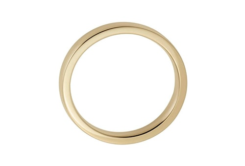 yellow gold metal ring