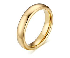 14kt yellow gold metal dome 2mm wedding band
