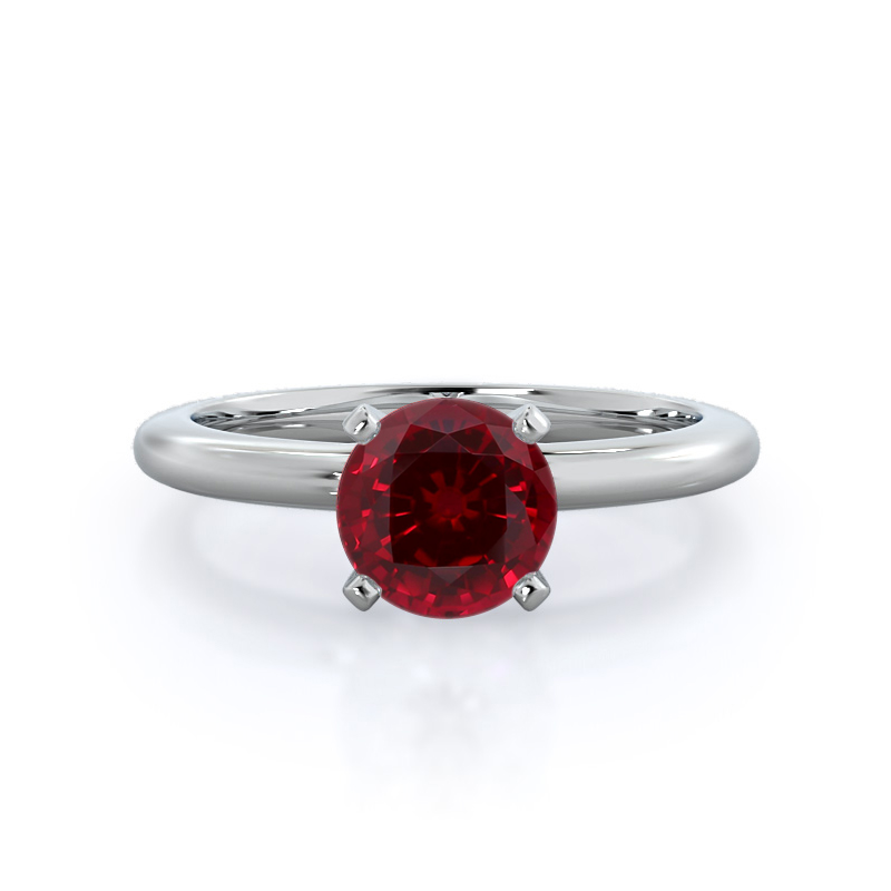 Classic Four Prong Solitaire Ruby Ring
