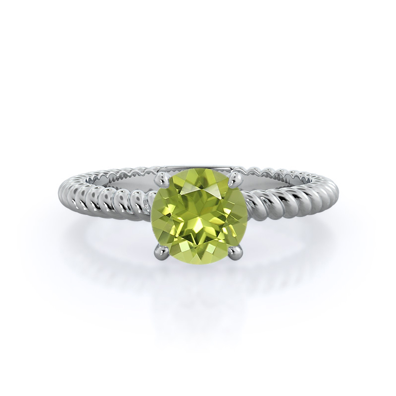 Braided Solitaire Peridot Ring