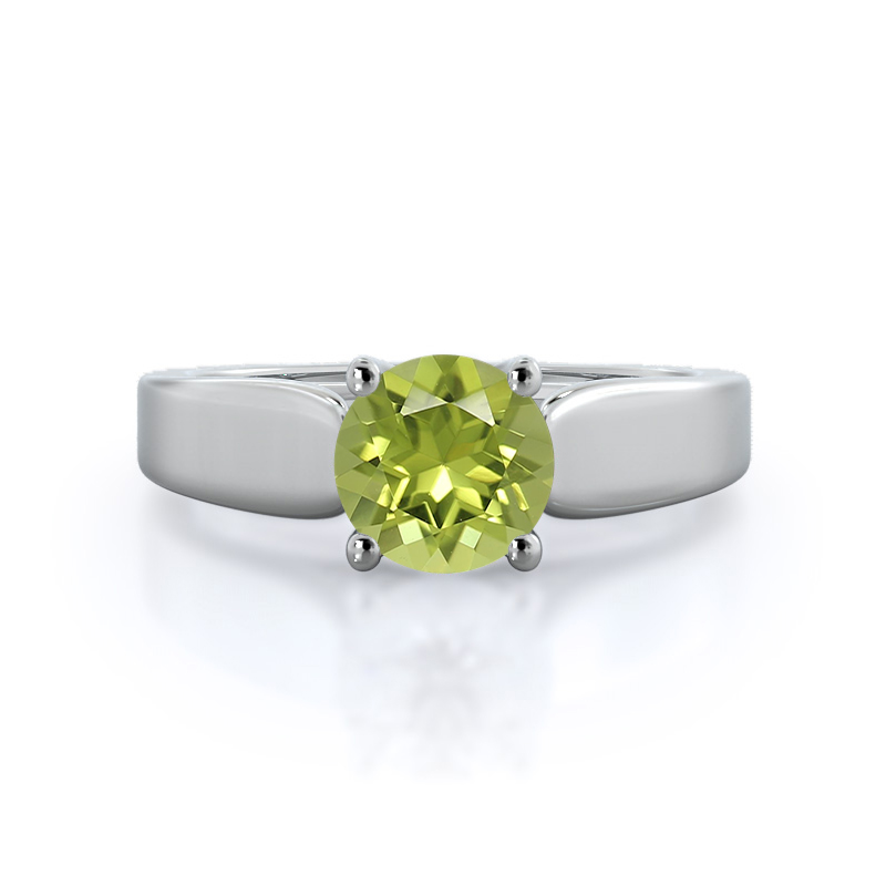Cathedral Weaved Solitaire Peridot Ring
