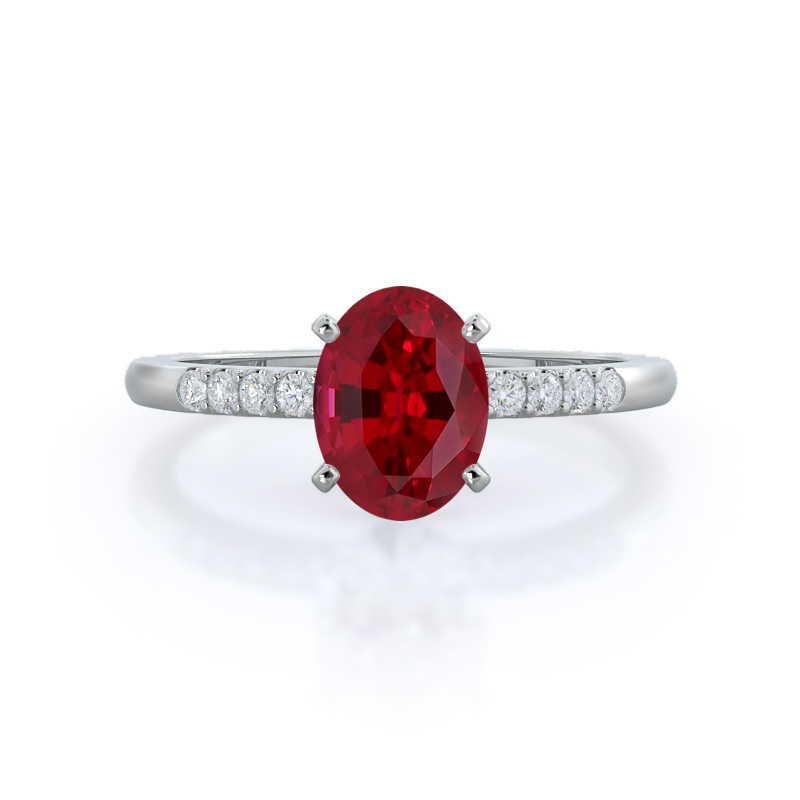 Traditional Pave Ruby Ring