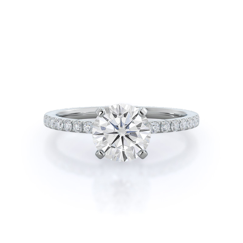 Classic Pave Moissanite Ring
