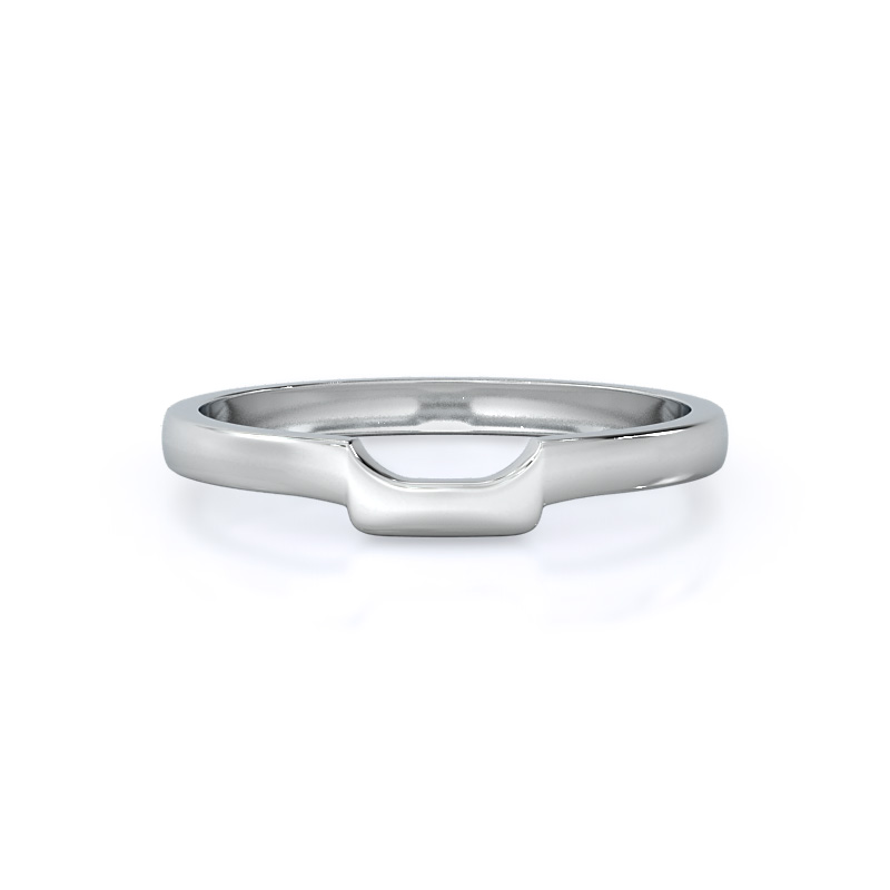 Classic four prong east west wedding band