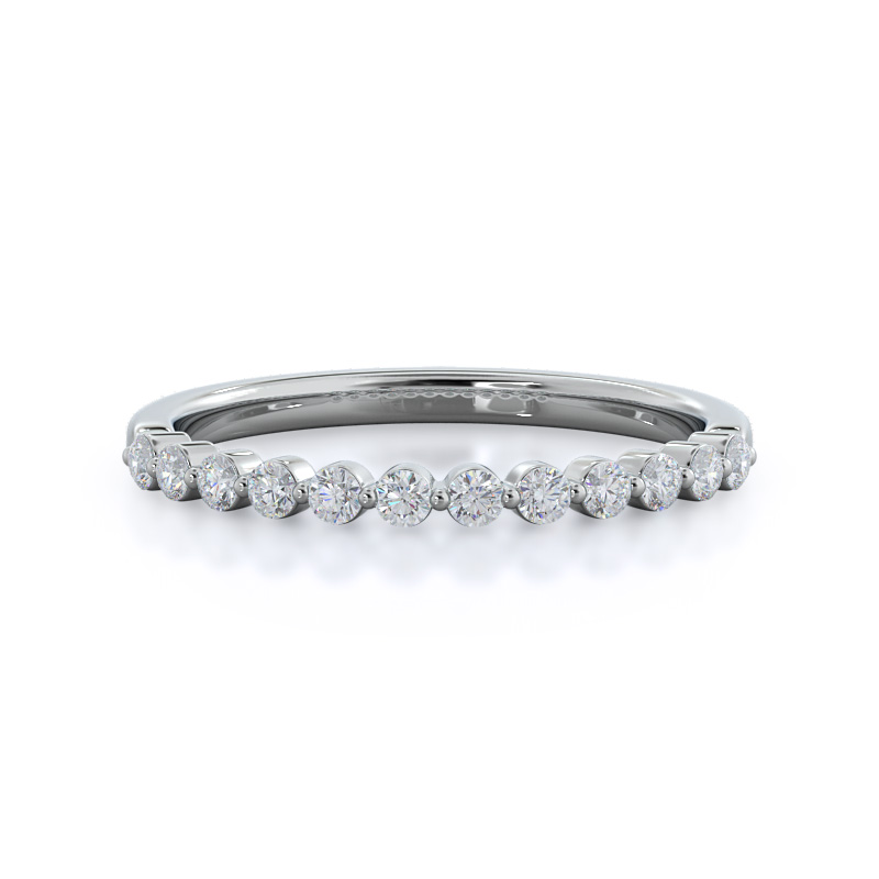 Under Bezeled Accent Diamond Wedding Band
