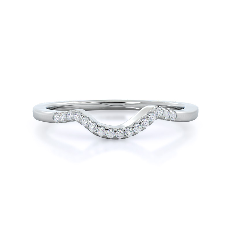 Classic Bypass Diamond Wedding Band