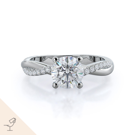 Twisting vine diamond ring