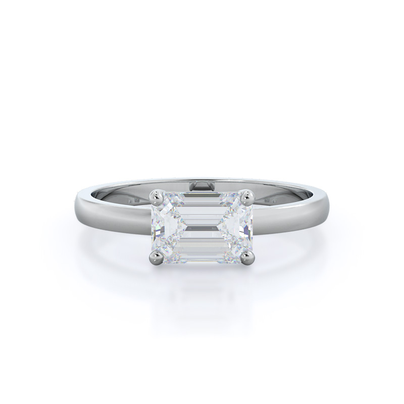 Classic four prong east west ring
