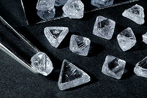 rough loose diamonds