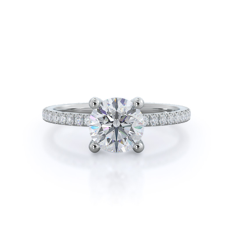 Petite micropave ring