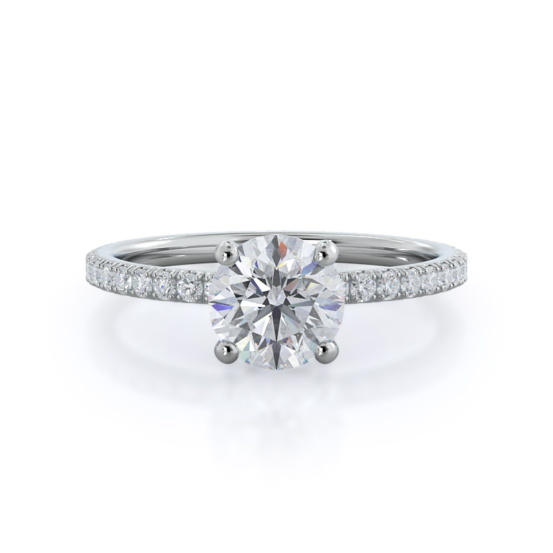 Pave love knot ring